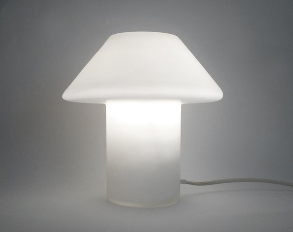 Modern White Frosted Glass Lamp - Hala