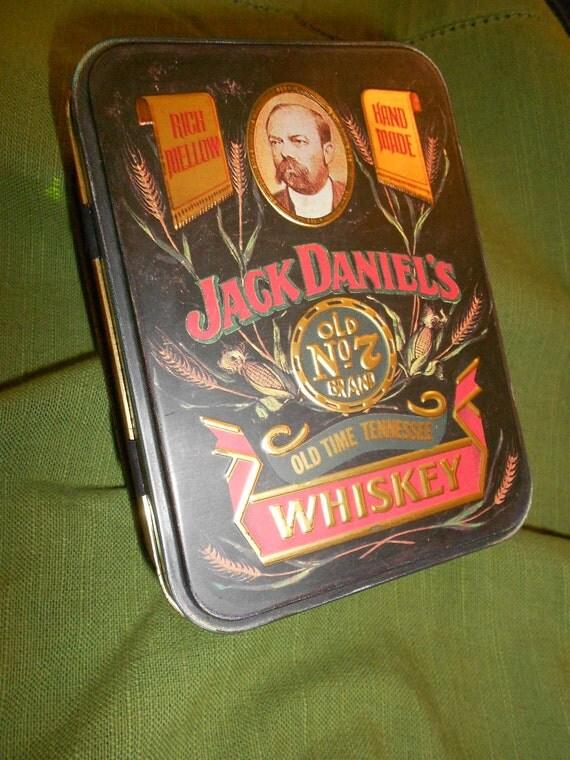 Rare Vintage Jack Daniels Tin - Metal Advertising Collectible.