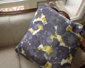1 large silk ikat throw pillow