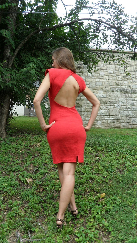 1980s red hot dress