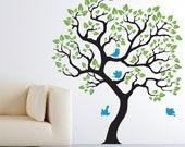 "Wall Decal Baby Nursery. Tree wall sticker. Size 70""X61"" Nursery wall decor vinyl sticker"