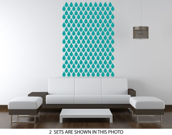 Wall Decals water Drops Pattern. Seamless pattern wall stickers