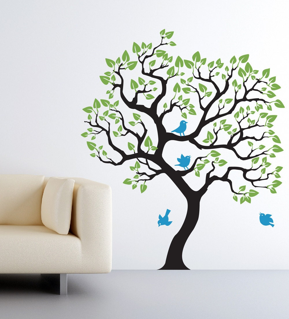 Wall decal baby nursery tree wall sticker size for Tree wall art