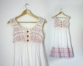 Babydoll mini dress with heart shaped buttons, size small xsmall