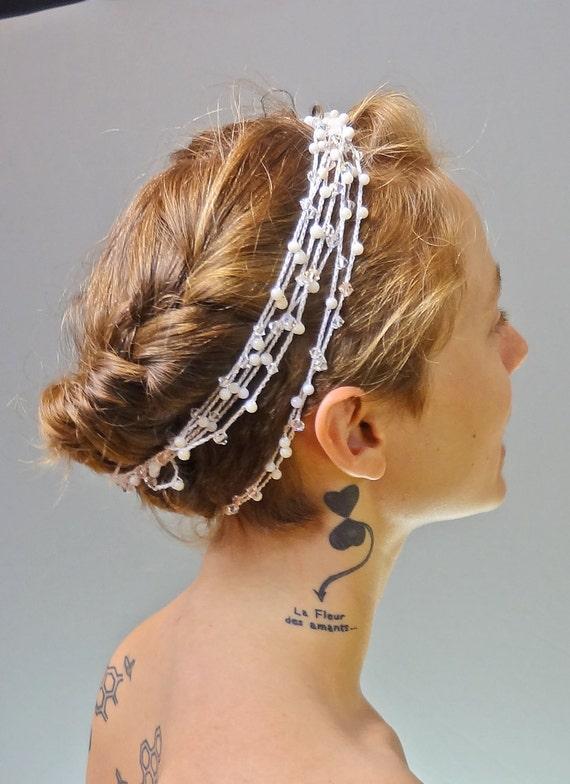 Bridal Hair Accessory, Bridal Headband, The Daphne Greek Goddess Circlet