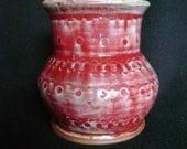 Ceramic vase with oribe glaze