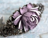 "Purple Flower Hair Clip - Cyber Monday Sale Save 25% off ""cybermonday25"""