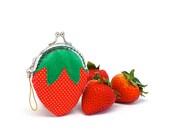 Delicious strawberry mini coin purse
