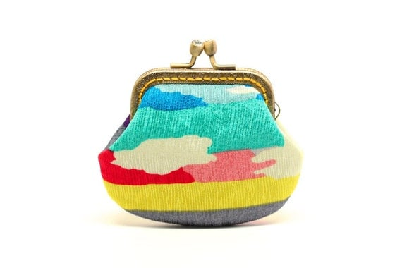Over the rainbow OOAK mini clutch purse