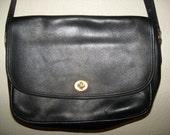 Large black Coach leather Shoulder bag