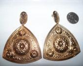 Huge ethnic gold earrings