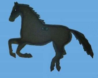 Trigger Horse Art Metal by Rustiques Garden Art