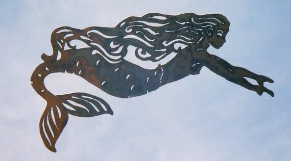 Swimming Mermaid Yard Art by Rustiques Garden Art