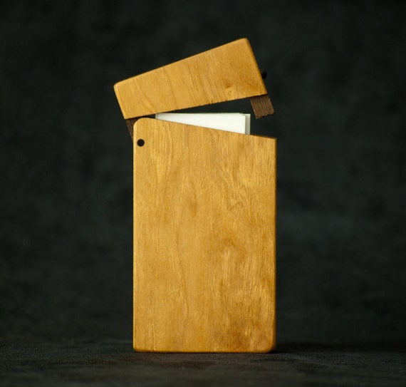 Moo Card Case (Mini Business Card Holder) - Cherry and Rosewood