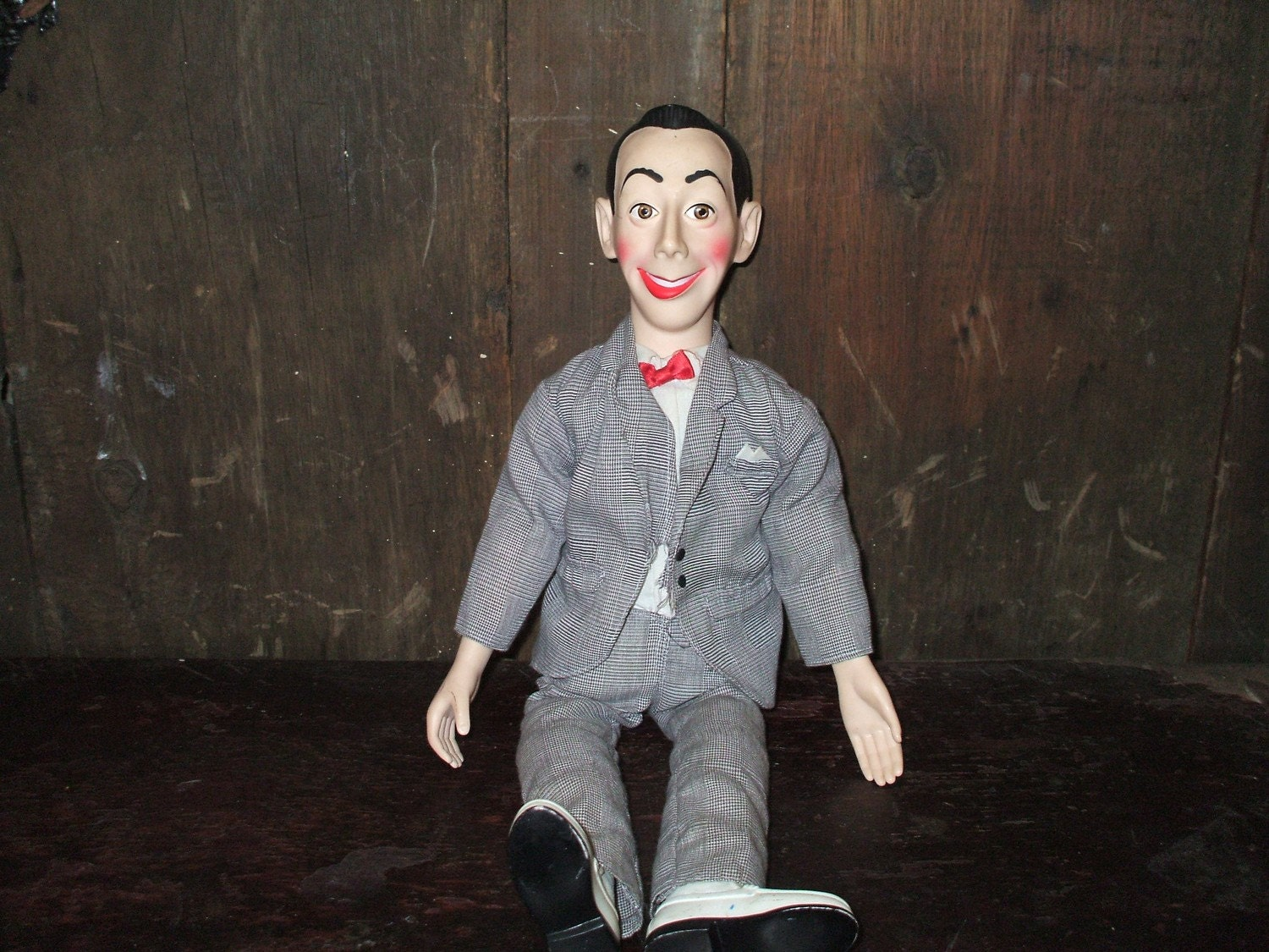 vintage poseable pee wee herman doll by prairypottery on etsy. Black Bedroom Furniture Sets. Home Design Ideas