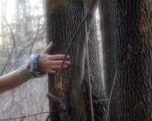 Woodland Fabric Cuff, Mushroom, Fungi, Textured -CHANTERELLE