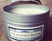Eco-Soy Candle Relaxation Blend with Organic Essential Oils Natural, Vegan, and eco-friendly