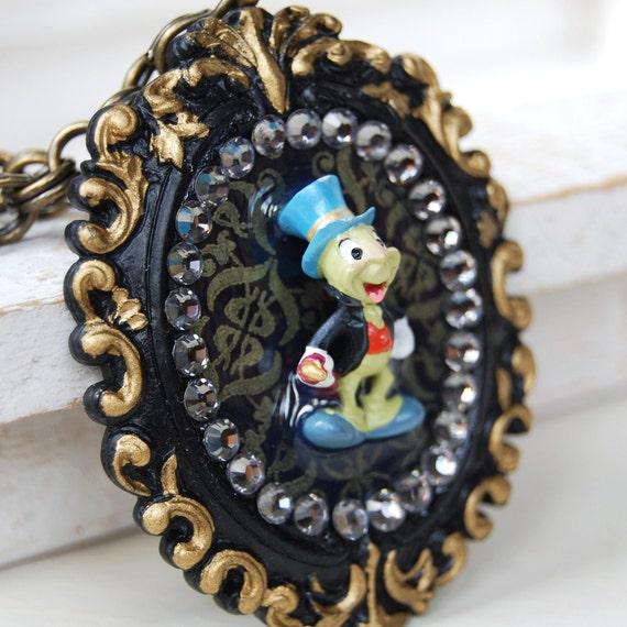 Jiminy Cricket's Last Stand Necklace