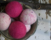 Dryer Balls, set of 6 Pinks, Free Shipping to USA