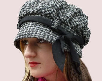 SEWING PATTERN: Slouchy Newsgirl Cap, Brimmed Beret, Tammy Hat with a Bow