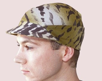 Yoshi Camouflage Ranger Cap for Men in Green Camo Cotton Knit