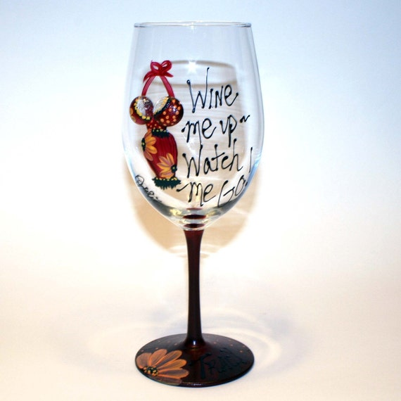 Items similar to tata glass hand painted wine glass for Wine glasses to go