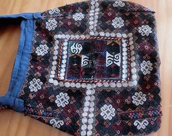 Vintage tribal kilim messenger bag