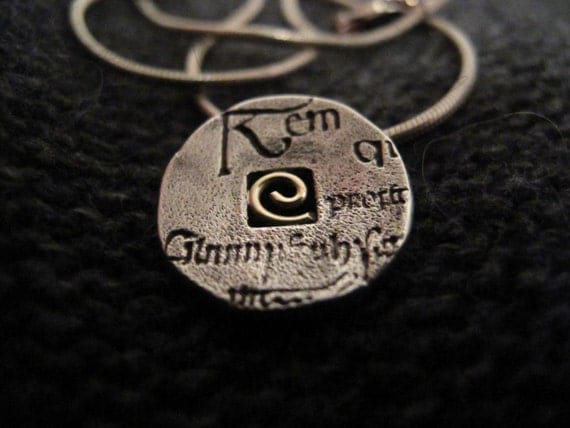 Book of Kells silver and gold necklace