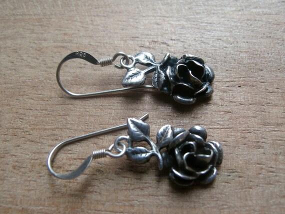 Victorian roses - Sterling silver earrings