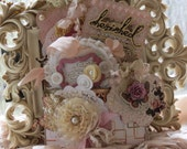 Shabby Vintage Style Inspired Sentiments Treat Pocket full of Large Tag set Embellishments Gift Decorations