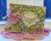 Vintage Inspired Sweet Life Cherub handmade card