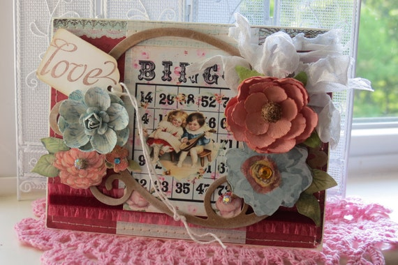 LOVE shabby Handmade Card