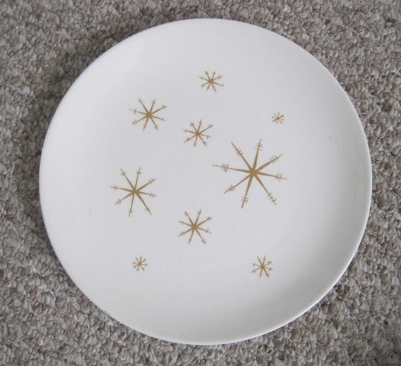 LAST CHANCE - Vintage Royal Star Glow Royal Atomic Dinner Plate, set of 2 (Two)
