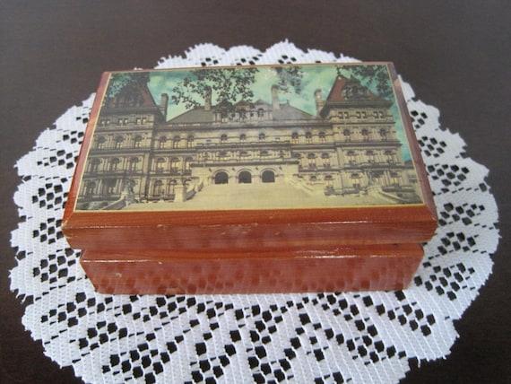 Vintage New York State Capitol Building Trinket Box