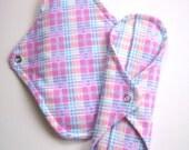 Reusable Mama Cloth Pad -- Pretty in Plaid