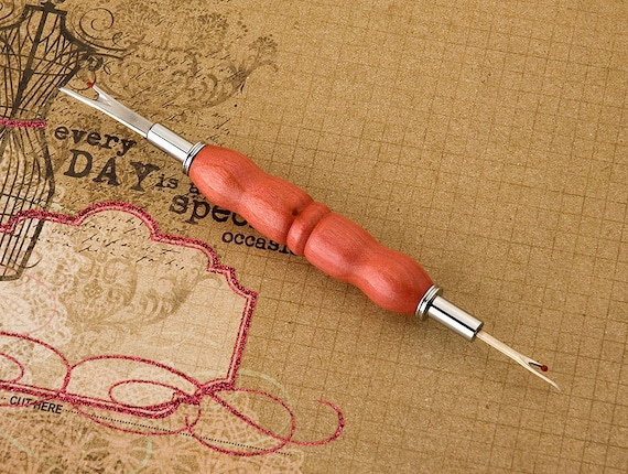 Handcrafted Pink Ivory Stitch Ripper, seamstress gift, gift for mom