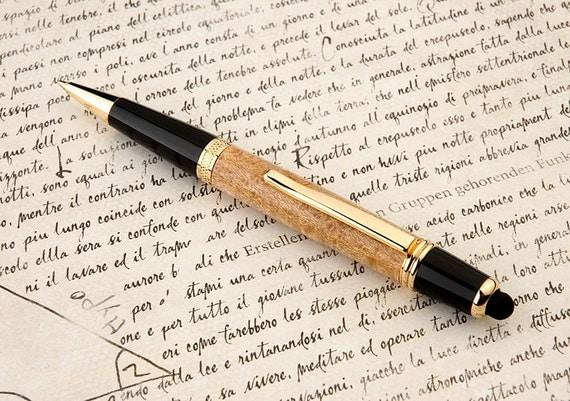 Birdseye Maple Wall Street and Stylus Ball Point Pen - Hand Made