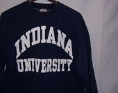 Vintage 1980's INDIANA UNIVERSITY blue thick Sweatshirt