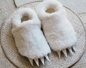 Wolf Slippers inspired by Where the Wild Things Are - Adult sized claw slippers