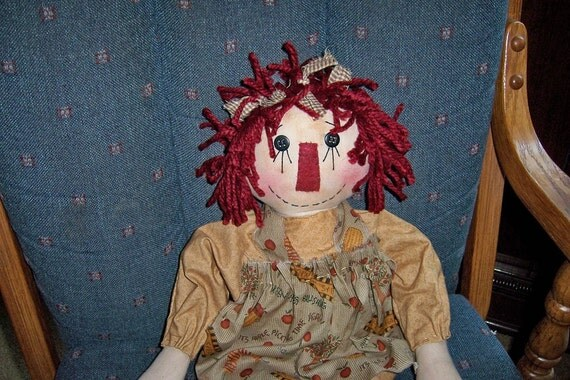 Raggedy Ann, primitive, autumn harvest