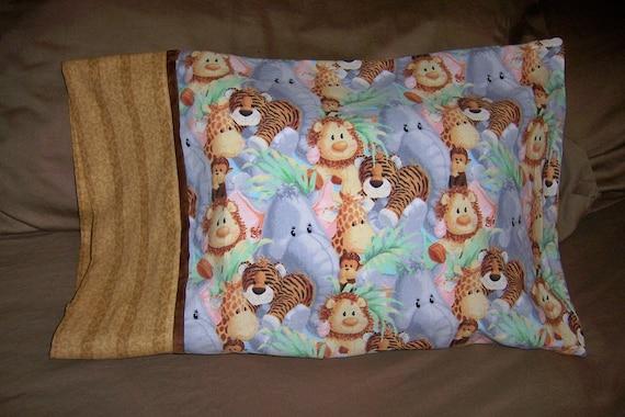 pillowcase, travel size, child, jungle animals