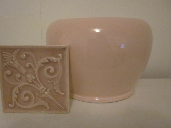 Large Pale Pink Nora Fenton Planter Made in Italy Pottery Pretty in Pink Italian Pottery