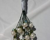 Swarovski Pearl Flower Boutonniere.  3 Crystals on each stem :-)