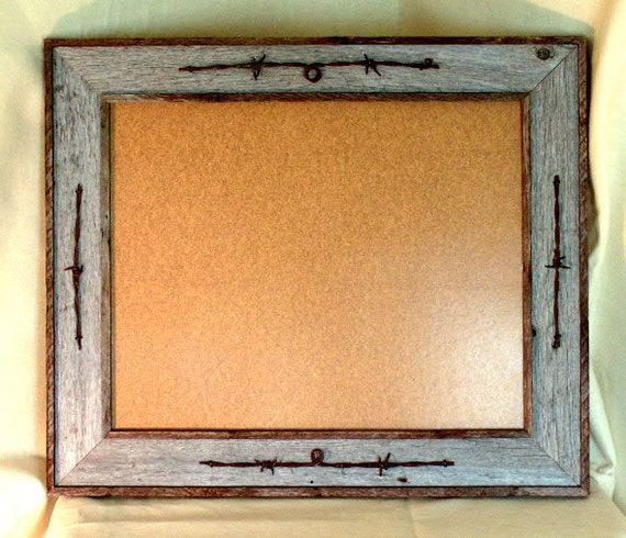 Photo picture frame 16x20 barnwood barb wire accent for 16x20 frame