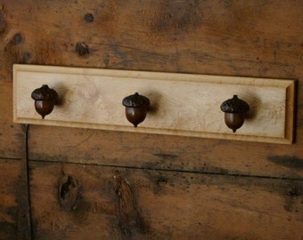 Acorn Towel Rack - Rustic Home Decor - Farmhouse Kitchen Decor - Cabin Decor