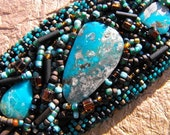 Turquoise and beaded bracelet