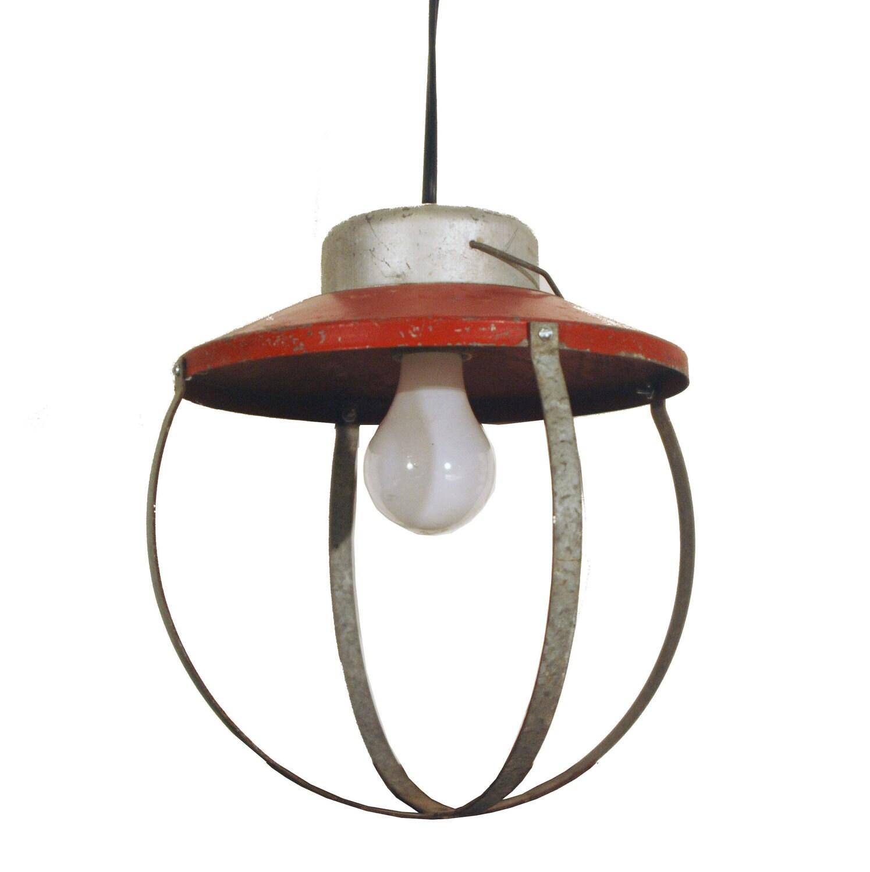 industrial pendant light fixture cage galvanized in