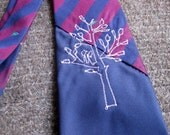 70% off clearance: TREE embroidered necktie