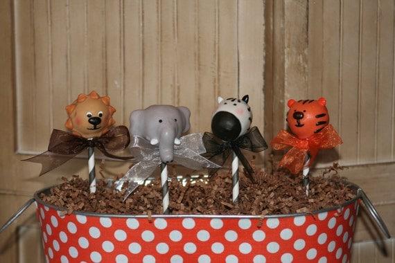 Mom's Killer Cakes & Cookies Original Safari Tiger, Elephant, Lion, Zebra Jungle Zoo Cake Pops