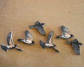 Set of 6 Robin Birds Woodcut Sculpture Prints